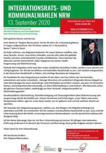 Integrationsratswahl in Soest - Tatyjana Remscova